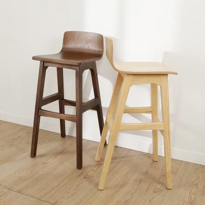 BuyJM北歐風森林系實木風吧檯椅-免組裝