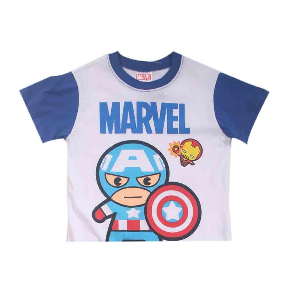 台灣製復仇者聯盟正版男童純棉短袖套裝 魔法Baby k41132
