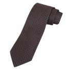 GUCCI  經典交錯LOGO圖騰飾領帶(深咖啡)