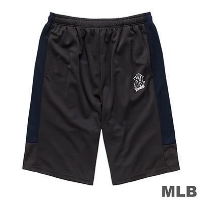MLB-紐約洋基隊LOGO印花快排短褲-深灰 (男)