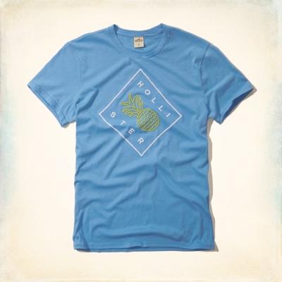 Hollister HCO 短袖 文字T恤 藍色 007