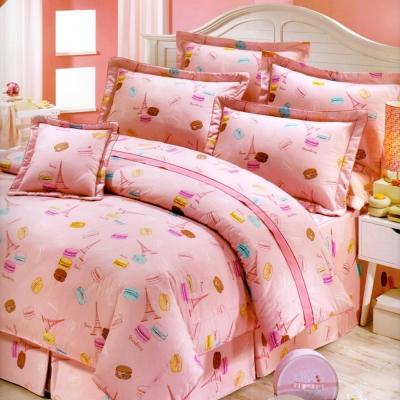艾莉絲-貝倫 馬卡龍 100%純棉 單人鋪棉床罩五件組