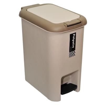 【創意達人】二用腳踏式垃圾桶18L