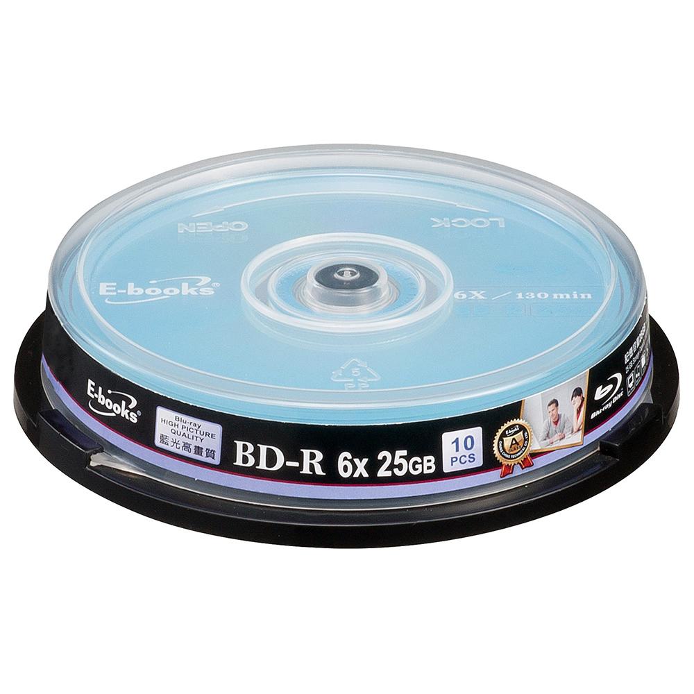 E-books 藍光 6X BD-R 25GB 20片桶
