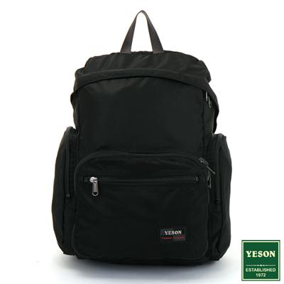 YESON - 商旅輕遊可摺疊式大容量後背包-黑