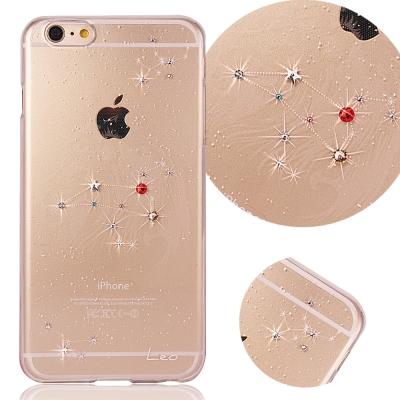 KnowStar APPLE iPhone6/6S 十二星座奧地利水晶彩繪手機鑽殼-獅子座