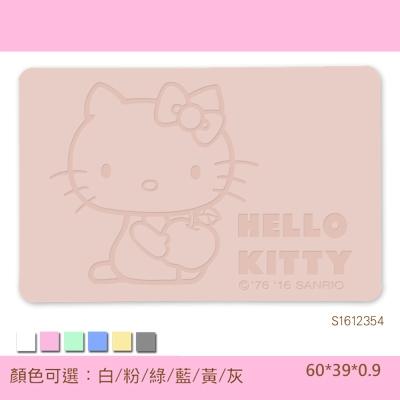 Hello Kitty珪藻土吸水地墊 -雕刻/ 蘋果抱抱