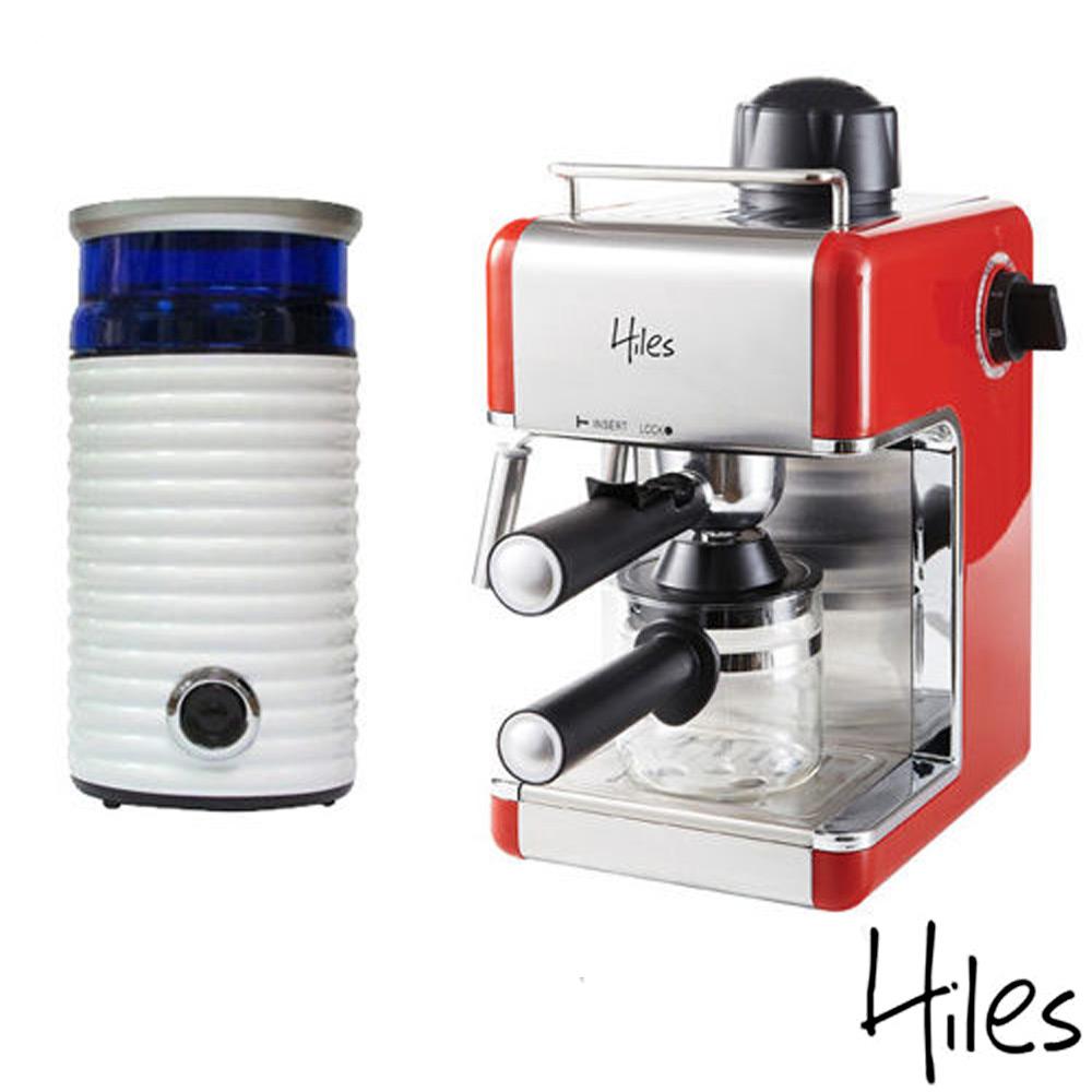 Hiles皇家義式精裝組合 義式咖啡機+電動磨豆機HE-307R+HE-386W2