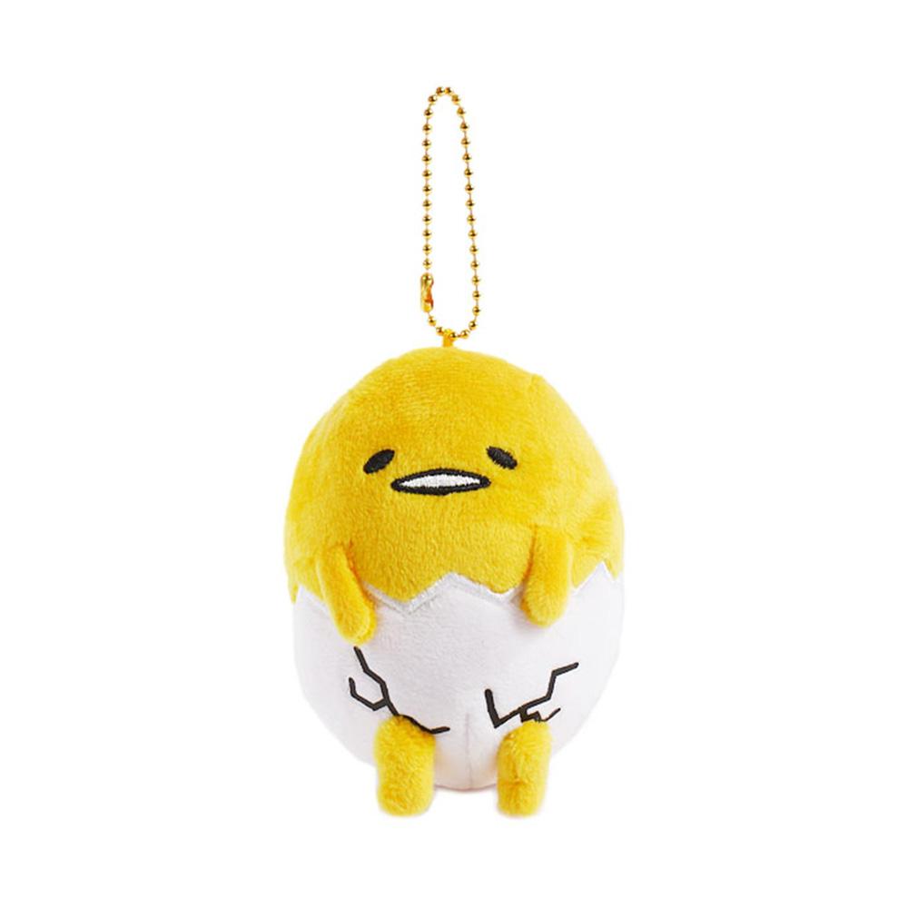 Sanrio 蛋黃哥圓滾滾絨毛玩偶吊鍊(蛋殼尿布褲)