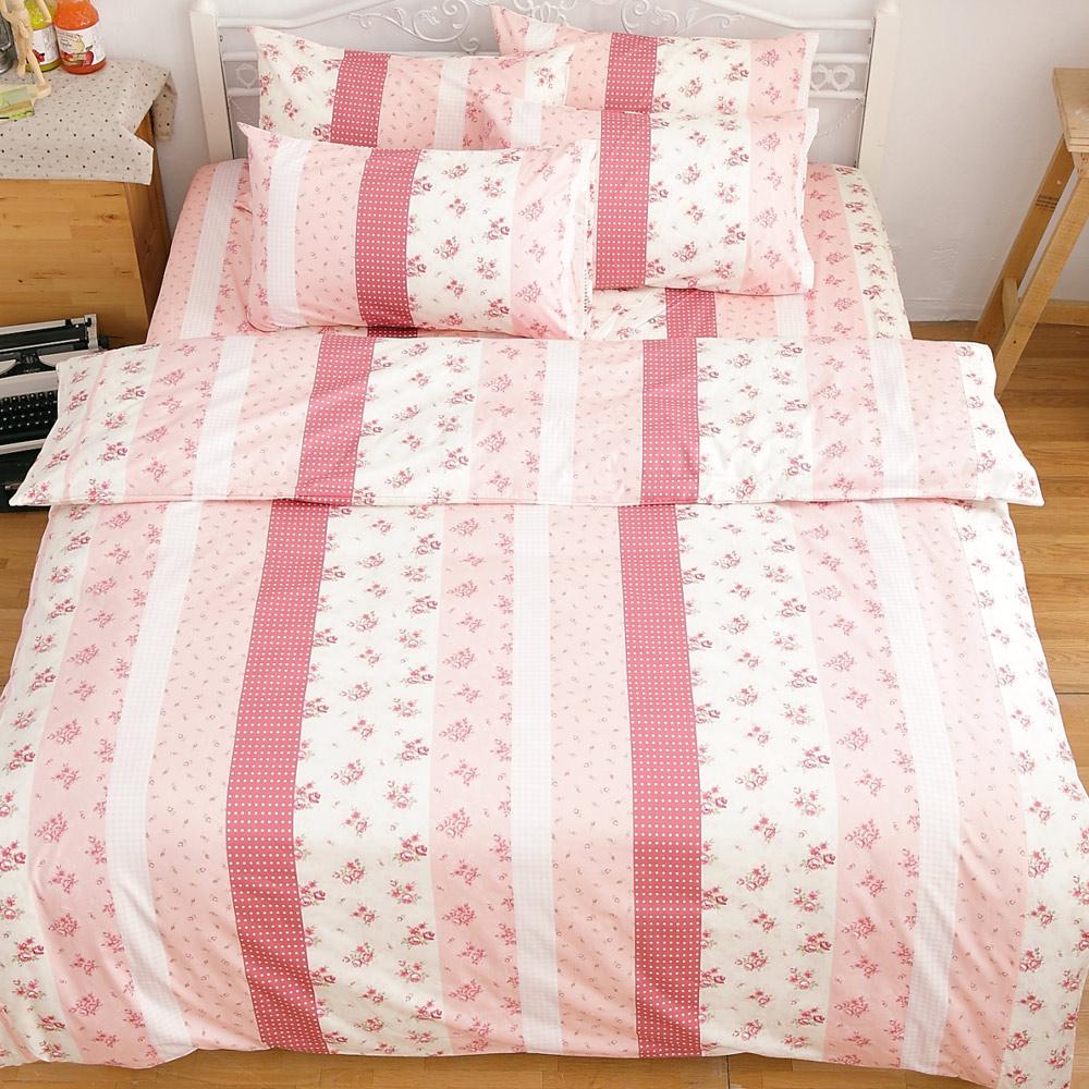 kokomos 扣扣馬 鎮瀾宮大甲媽授權精梳棉205織紗單人床包雙人被套三件組 粉玫瑰