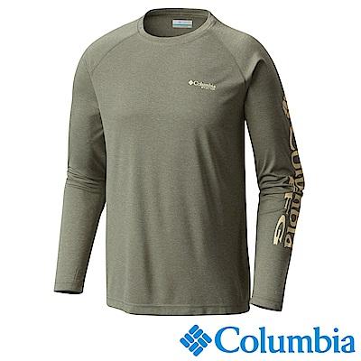 Columbia哥倫比亞 男款-防曬50快排長袖上衣-灰綠 UFO10900GG