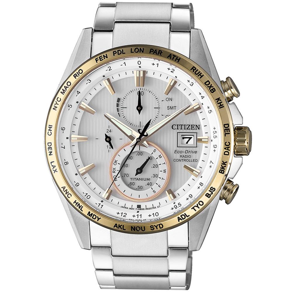 星辰CITIZEN GET'S系列鈦金紳士電波計時腕錶(AT8156-87A)-42mm