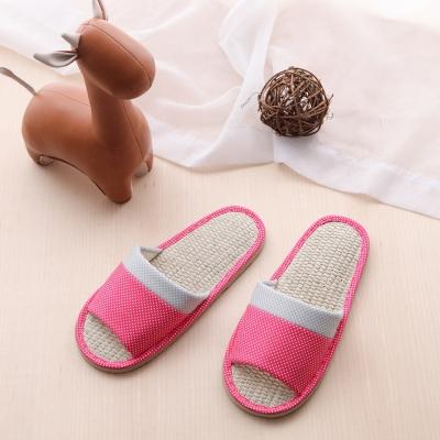 夏日涼感-繽紛點點拼接室內蓆拖鞋