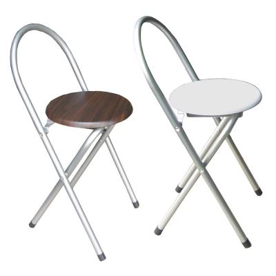 頂堅鋼管高背木製椅座折疊椅4入(二色)