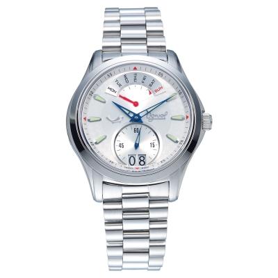 Ogival 瑞士愛其華 逆跳極速多顯腕錶-白/40mm