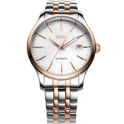 FIYTA飛亞達  卓雅系列雅痞風格機械錶(WGA1010.MWM)-白色/40mm