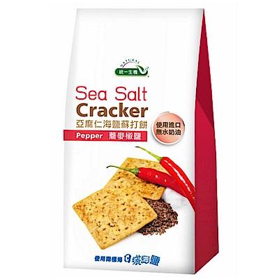 統一生機 亞麻仁海鹽蘇打餅-蕎麥椒鹽(168g)