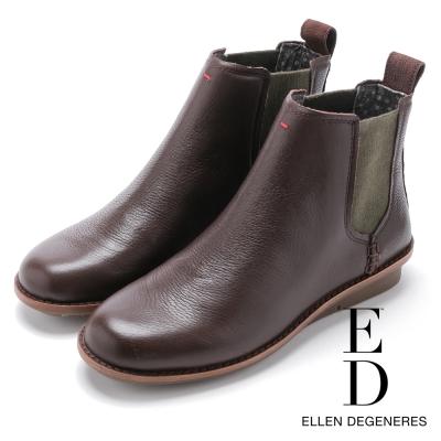 ED Ellen DeGeneres 圓楦素面短筒雀兒喜靴-咖啡
