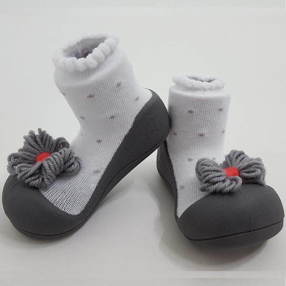 韓國Attipas 快樂學步鞋A17RG-灰點領結