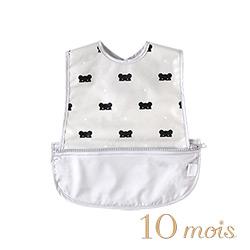 10mois 面具星彩熊收納式餐圍兜(無袖)