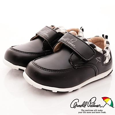 雨傘牌 皮質休閒花童鞋款 EI73702黑(中小童段)T