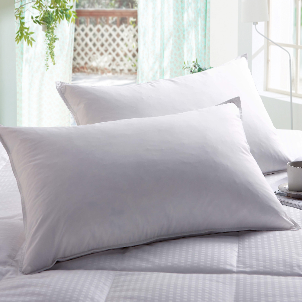 亞曼達Amanda 100%純天然羽絨枕 (2入)-快速到貨