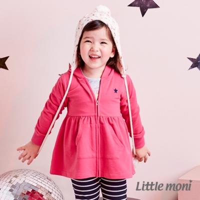 Little moni 甜美下襬連帽外套 (共2色)