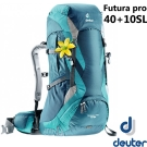 【Deuter】Futura pro 40 40+10SL 女款 網架式透氣背包_墨綠/綠