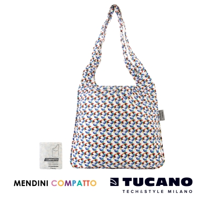 TUCANO X MENDINI 設計師系列超輕量折疊收納輕鬆購物袋-繽紛