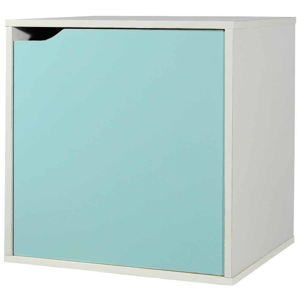 EASY HOME 魔術方塊單門收納櫃-冰河藍