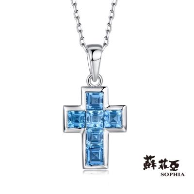 蘇菲亞SOPHIA 寶石項鍊-十字架造型寶石項鍊