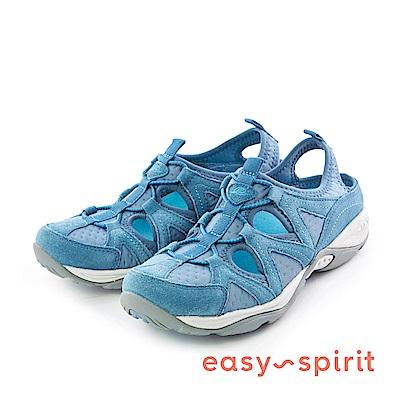 Easy Spirit--拼接式輕量後拉帶休閒鞋-活力藍