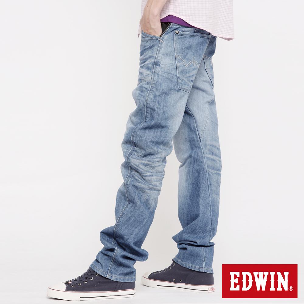 EDWIN  E-FUNCTION 窄直筒牛仔褲-男款(拔淺藍)