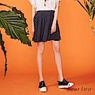 beartwo 經典條紋造型排扣短版傘裙(二色)