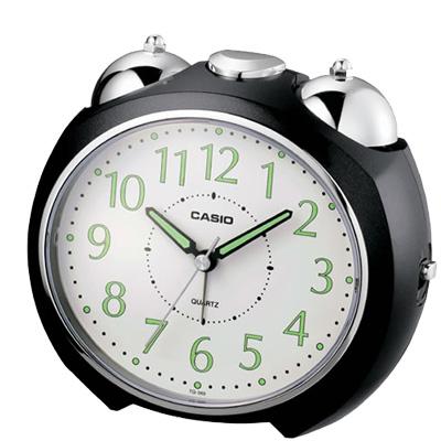 CASIO 流線型指針桌上型鬧鐘(黑/ 白)