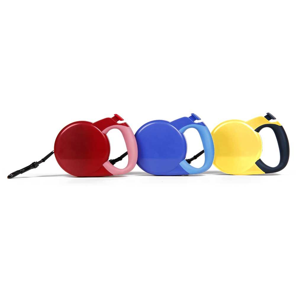 Beamer 寵物自動拉帶伸縮牽引拉繩 雙色 M號