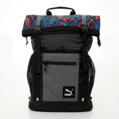 PUMA-Evo-Fresh後背包-黑多彩