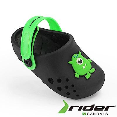 RIDER 巴西-幼童 布希鞋 LUNAR 黑綠色