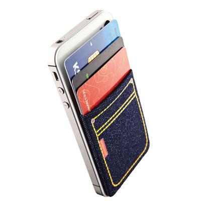 Sinji Pouch簡單生活手機背貼(牛仔藍)