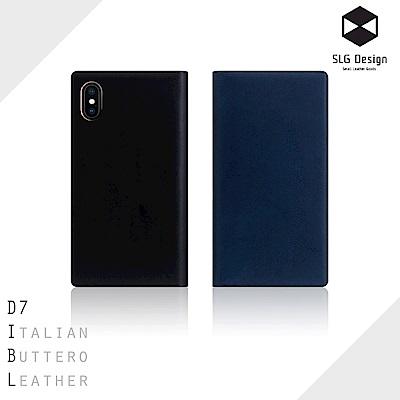SLG Design iPhone X D7 IBL 精緻典藏款 頂級真皮側掀皮...
