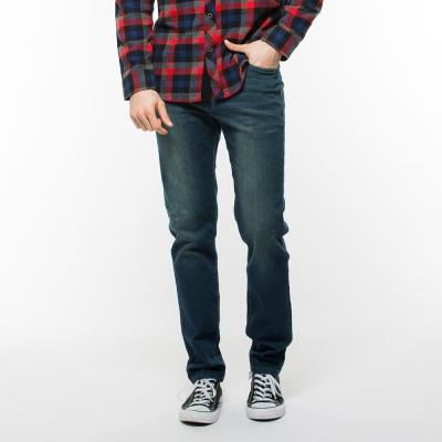 Hang-Ten-男裝-彈力修身牛仔長褲-藍