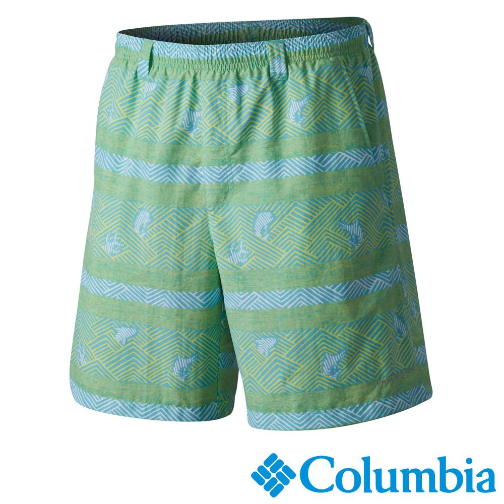 【Columbia哥倫比亞】男-防曬50甲板水褲-綠色 UFE40100GA
