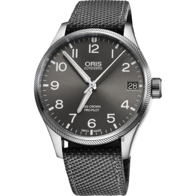 Oris豪利時 Big Crown ProPilot 飛行機械錶-灰/41mm