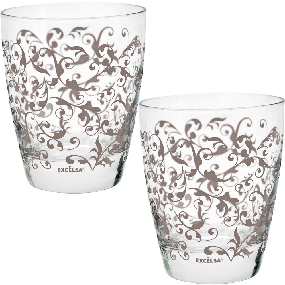 EXCELSA 藤蔓玻璃杯2入(棕300ml)