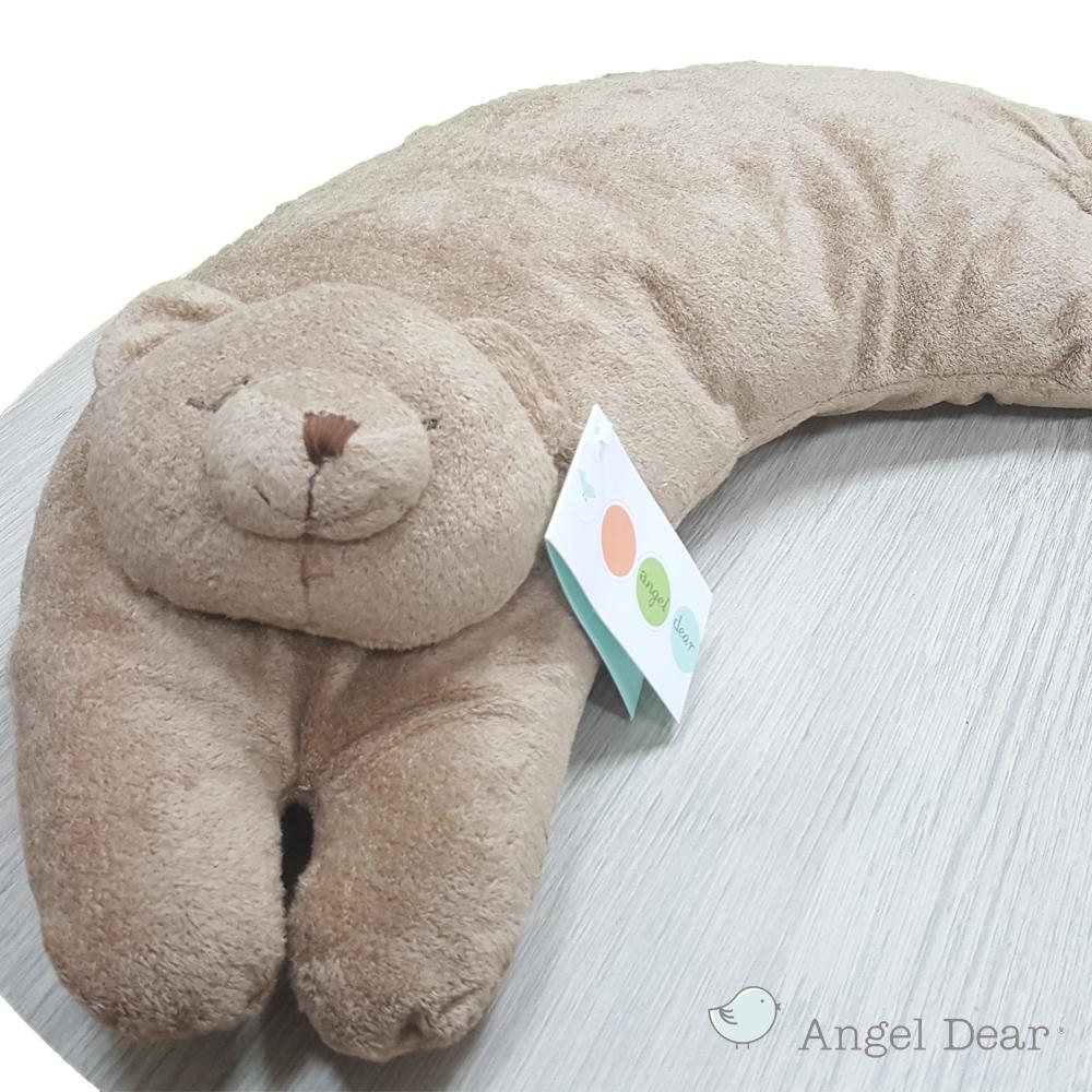 美國 Angel Dear 曲線動物大枕頭 (棕色小熊)