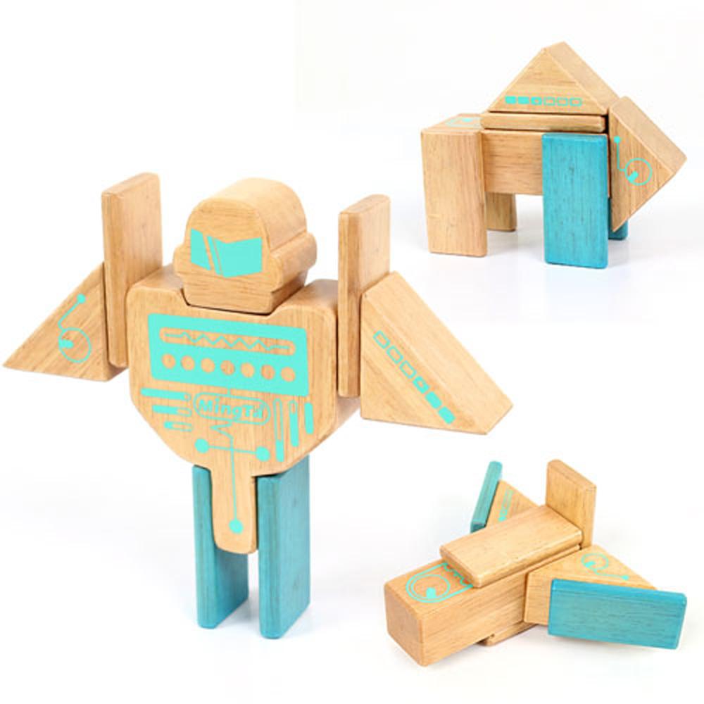 w-o2d Ming Ta 磁力積木機器人系列16pcs