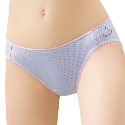思薇爾  惹萌漾學院風系列M-XXL素面低腰三角內褲(星球紫 )