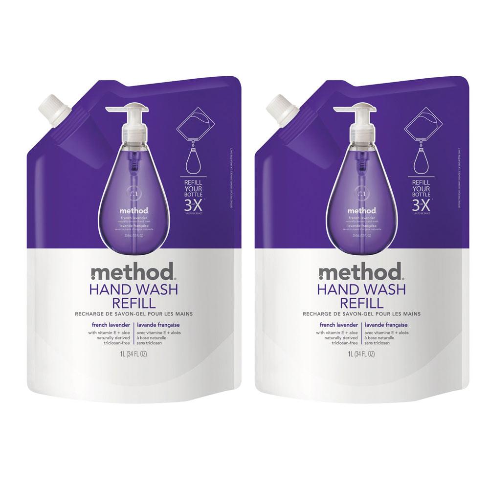 Method美則法式薰衣草天然洗手乳(補充包)1000ml x 2包
