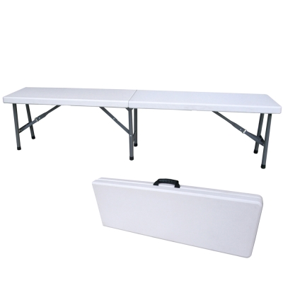 【免工具】寬183公分-對疊折疊椅/休閒椅/野餐椅/戶外椅/長椅