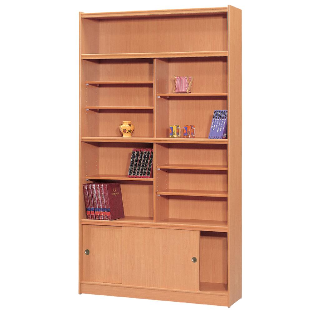 時尚屋 豪豐4x7尺玻璃拉門書櫃 寬120cm 多色可選-免組